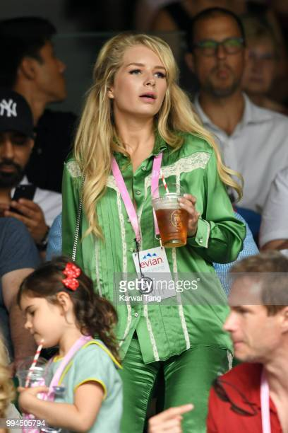 Lottie Moss attends day seven of the Wimbledon Tennis Championships at the All England Lawn Tennis and Croquet Club on July 9 2018 in London England