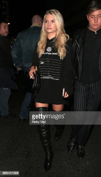 Lottie Moss attends Tallia Storm's 19th birthday party at Bunga Bunga Covent Garden on October 25 2017 in London England
