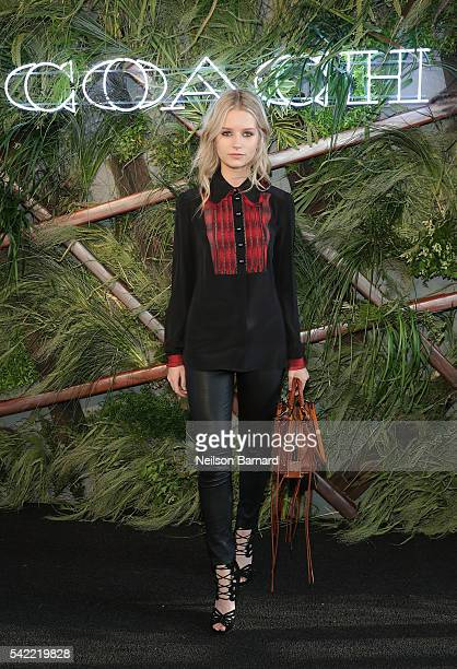Lottie Moss attends the '2016 Coach And Friends Of The High Line Summer Party' at The High Line on June 22 2016 in New York City