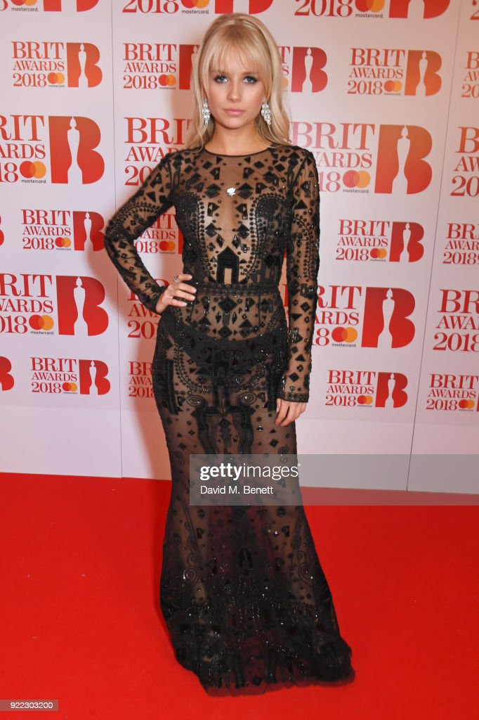 Lottie Moss attends The BRIT Awards 2018 held at The O2 Arena on February 21, 2018 in London, England.