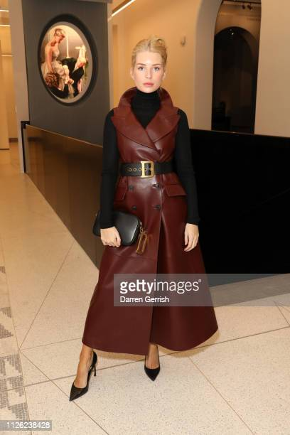 Lottie Moss attends the 'Christian Dior Designer Of Dreams' exhibition at the VA opening private view on January 30 2019 in London England