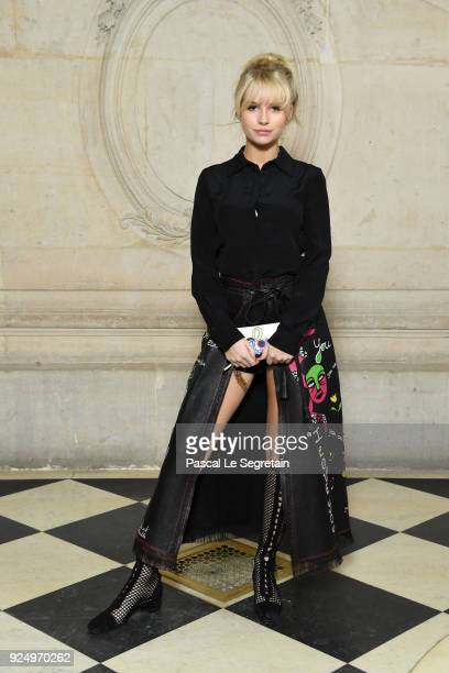 Lottie Moss attends the Christian Dior show as part of the Paris Fashion Week Womenswear Fall/Winter 2018/2019 on February 27 2018 in Paris France