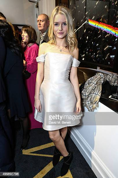 Lottie Moss attends the grand opening of Maddox Gallery on December 3 2015 in London England
