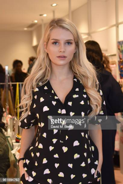 Lottie Moss attends the launch of the Bimba Y Lola Love Hattie Stewart collaborative collection on April 26 2018 in London England