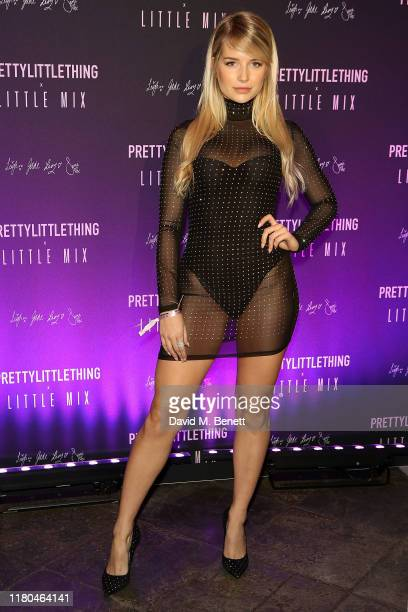 Lottie Moss attends the launch of the PrettyLittleThing x Little Mix collection at Aynhoe Park House on November 6, 2019 in Banbury, England.