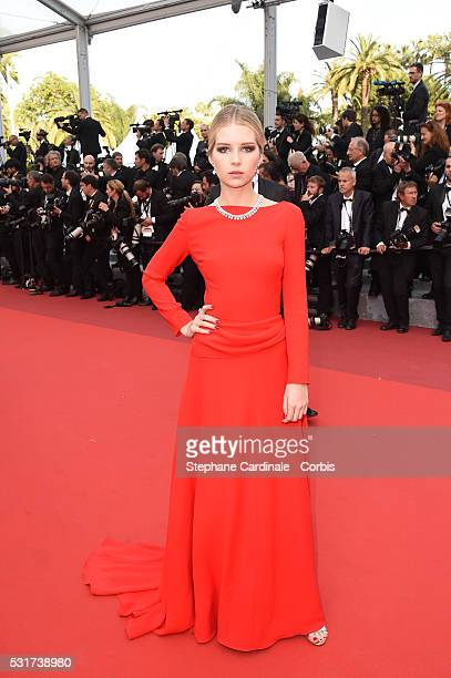 Lottie Moss attends the 'Loving' premiere during the 69th annual Cannes Film Festival at the Palais des Festivals on May 16 2016 in Cannes France