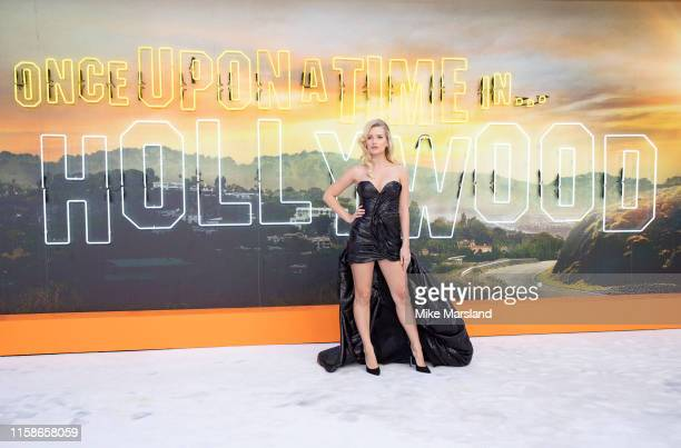 Lottie Moss attends the Once Upon a Time in Hollywood UK Premiere at Odeon Luxe Leicester Square on July 30 2019 in London England