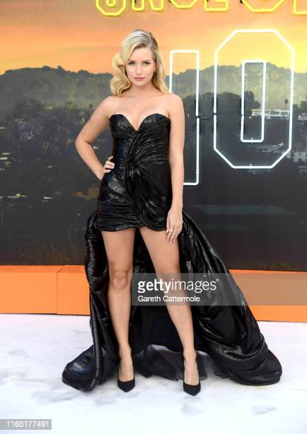 """Lottie Moss attends the """"Once Upon a Time... In Hollywood"""" UK Premiere at the Odeon Luxe Leicester Square on July 30, 2019 in London, England."""
