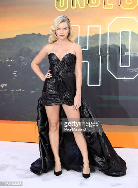 """Lottie Moss attends the """"Once Upon A Time In Hollywood"""" UK Premiere at Odeon Luxe Leicester Square on July 30, 2019 in London, England."""