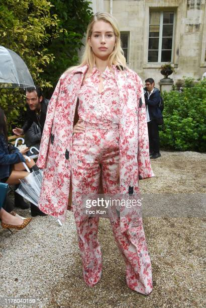 Lottie Moss attends the Paul & Joe Womenswear Spring/Summer 2020 show as part of Paris Fashion Week on September 29, 2019 in Paris, France.