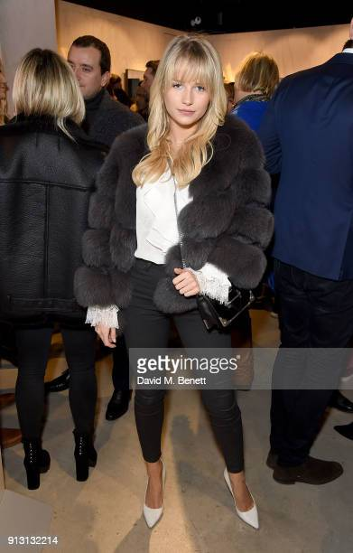 Lottie Moss attends the private launch event for luxury eyewear brand FINLAY London's first Soho store on February 1 2018 in London England