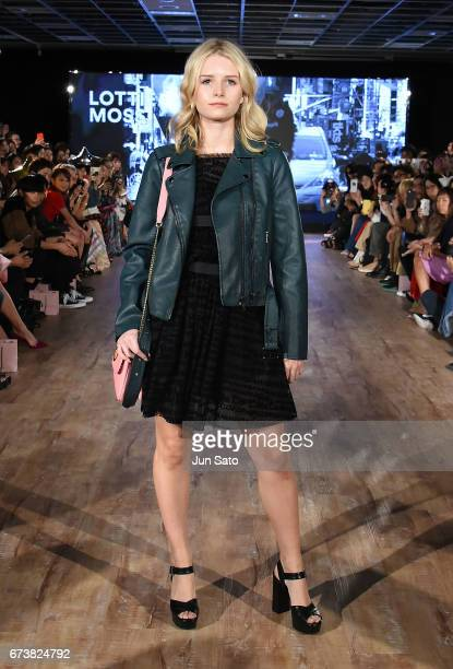 Lottie Moss attends the Samantha Thavasa Millennial Stars Fashion Event on April 27 2017 in Tokyo Japan