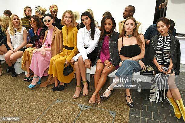 Lottie Moss Ellie Goulding Hikari Yokoyama Erin O'Connor Arizona Muse Neelam Gill Serayah McNeill Xenia Tchoumi and Yi Yan Jiang attend the Topshop...