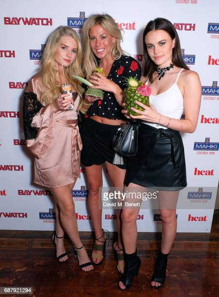 Lottie Moss Frankie Gaff and Emily Blackwell attend the Official UK Baywatch and Mahiki Rum After Party at Mahiki on May 24 2017 in London England