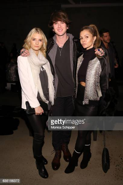 Lottie Moss GabrielKane DayLewis and Elizabeth Sulcer attend the Zadig Voltaire fashion show during New York Fashion Week at Skylight Modern on...