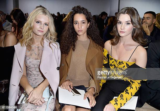Lottie Moss Iman Perez and Sai Bennett attend the Christian Dior show as part of the Paris Fashion Week Womenswear Spring/Summer 2017 on September 30...