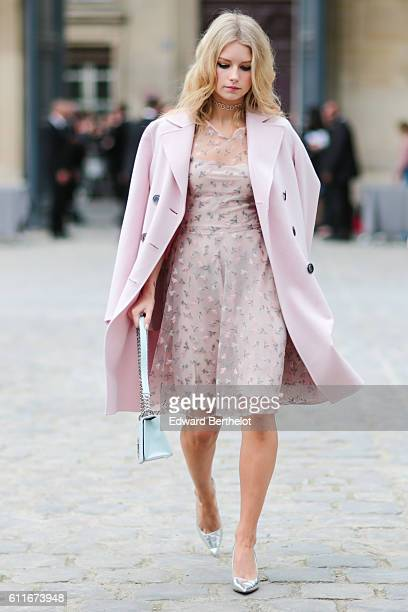 Lottie Moss is seen outside of the Christian Dior show during Paris Fashion Week Spring Summer 2017 at the Rodin museum on September 30 2016 in Paris...