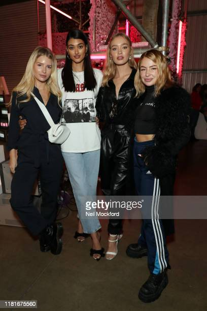 Lottie Moss Neelam Gill Roxy Horner and Jess Woodley attend the Pandora Me Collection at The Old Truman Brewery on October 17 2019 in London England