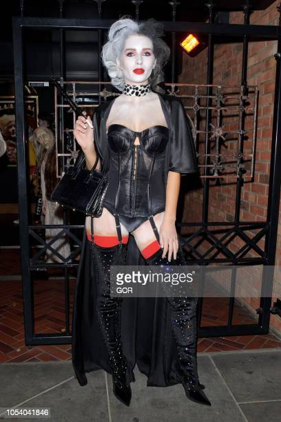 Lottie Moss seen arriving at Hallowzeem Party in Shoreditch on October 26 2018 in London England