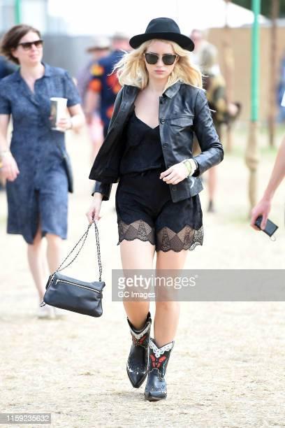 Lottie Moss seen at Glastonbury Festival 2019 on June 30 2019 in Glastonbury England