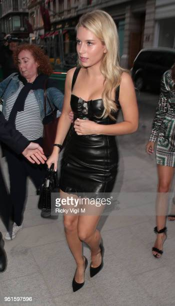 Lottie Moss seen attending Azzedine Alaia flagship store launch party on April 26 2018 in London England
