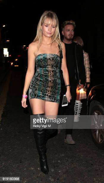 Lottie Moss seen attending the Wonderland Magazine x MTV party at The Ned during LFW February 2018 on February 16 2018 in London England