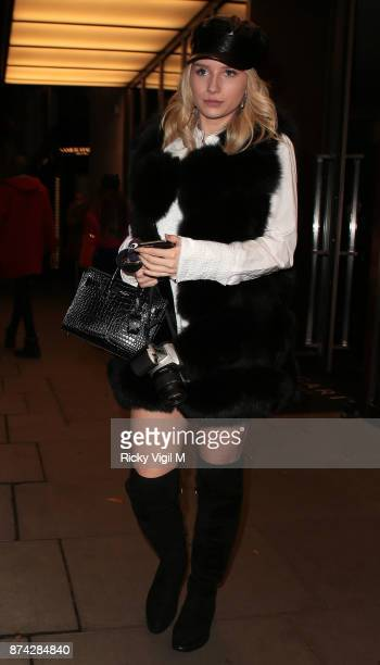 Lottie Moss seen on a night out leaving C restaurant in Mayfair on November 14 2017 in London England