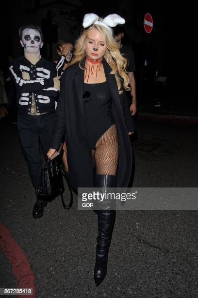 Lottie Moss sighting at One Embankment Halloween Party on October 27 2017 in London England