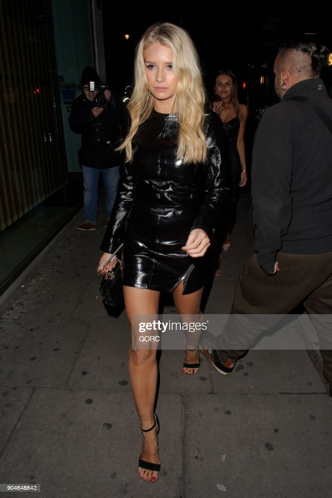 Lottie Moss sighting at Tape nightclub on January 13, 2018 in London, England.