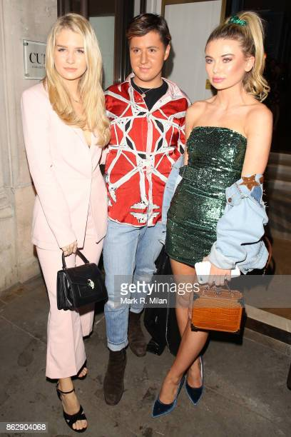 Lottie Moss Valentine Sozbilir and Georgia Toffolo attending the The Trafalgar St James launch party on October 18 2017 in London England