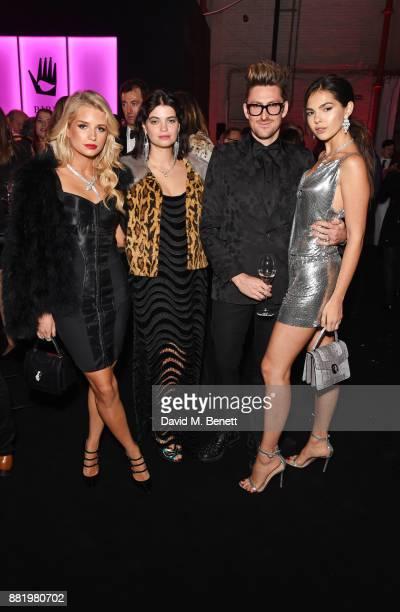 Lottie Moss wearing Bulgari Pixie Geldof Henry Holland and Doina Ciobanu wearing Bulgari attend CLUB LOVE for the Elton John AIDS Foundation in...