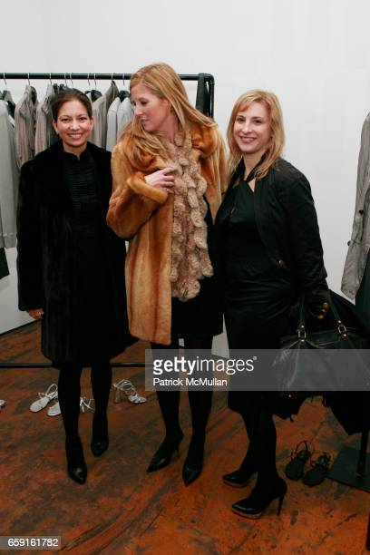Lottie Oakley Amber Estabrook and Laura Lachman attend YSL Edition Unisex Boutique Opening at 55 Great Jones St on February 18 2009 in New York City