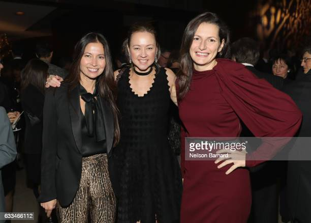 Lottie Oakley Anna Nikolayevsky and Ivana Delevska attend Lincoln Center's American Songbook Gala red carpet at Alice Tully Hall on February 1 2017...