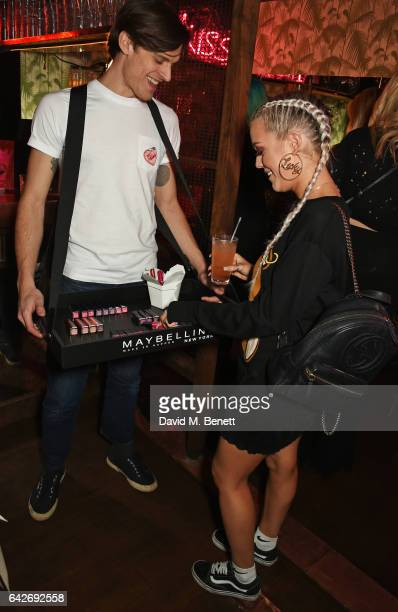 Lottie Tomlinson attends Maybelline's Bring On The Night London Fashion Week party at The Scotch of St James on February 18 2017 in London England