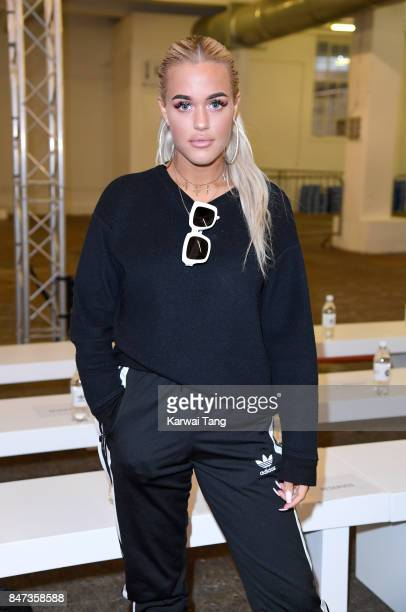 Lottie Tomlinson attends the Streets of EQT Fashion Show at The Old Truman Brewery on September 15 2017 in London England Hailey Baldwin partners...