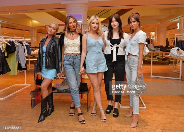 Lottie Tomlinson Lou Teasdale Lottie Moss Gemma Styles and Sophia Smith attend the Lottie Moss x PacSun launch event at Selfridges on May 9 2019 in...