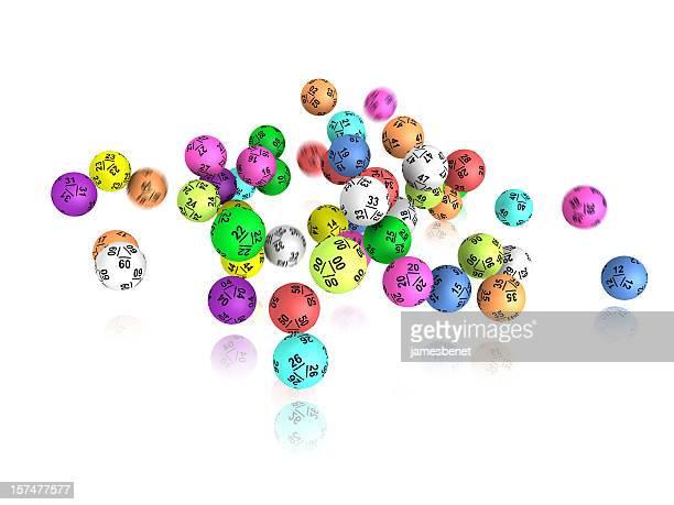 lotto pelotas caída - artículos de lotería fotografías e imágenes de stock