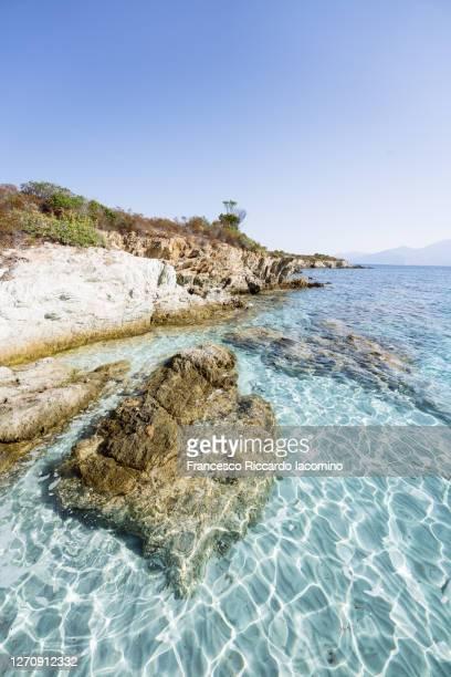 lotus beach, (plage du lotu), haute corse, france - francesco riccardo iacomino france foto e immagini stock