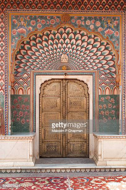 Lotus door at Jaipur City Palace, Rajasthan, India