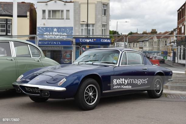Lotus Elan +2 on display during the Southend Classic Car Show along the seafront on June 17, 2018 in Southend on Sea, England.
