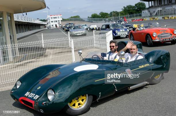 Lotus Eleven at the end of the Exhibition and Car Racing of 'God Save The Car Festival' with antique english cars at the Montlhéry-Linas motor racing...