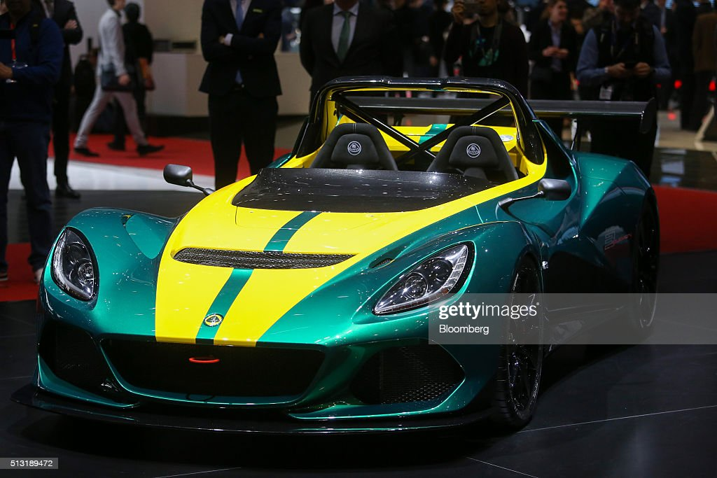 A Lotus Elise 3-11 automobile, produced by Group Lotus Plc, a luxury unit of Proton Holdings Bhd., sits on display on the first day of the 86th Geneva International Motor Show in Geneva, Switzerland, on Tuesday, March 1, 2016. The show opens to the public on March 3, and will showcase the latest models from the world's top automakers. Photographer: Chris Ratcliffe/Bloomberg via Getty Images