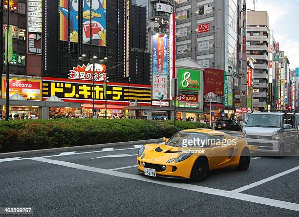 lotus exige in tokyo - lotus brand name stock pictures, royalty-free photos & images