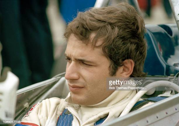 Lotus Formula One Driver Elio de Angelis of Italy during the British Grand Prix at the Brands Hatch circuit in Fawkham England on July 13 1980