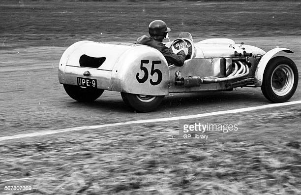A Lotus Mark VI racing at Castle Combe England 3 April 1954