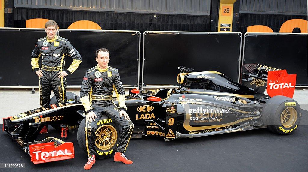 Lotus Renault's Polish driver Robert Kub : News Photo