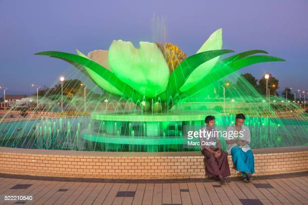 lotus round about in nay pyi taw - naypyidaw stock pictures, royalty-free photos & images