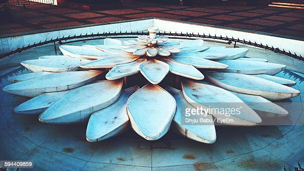 Lotus Sculpture In Fountain