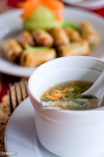 lotus seed soup - christina plate foto e immagini stock