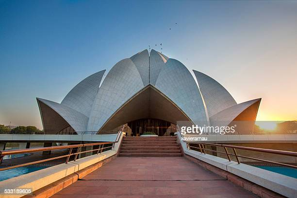 lotus temple - delhi stock pictures, royalty-free photos & images